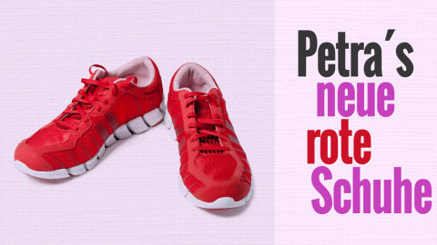 Petras neue rote Laufschuhe